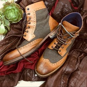 Ted Baker Felt and Leather Men's Boots - sz 10.5